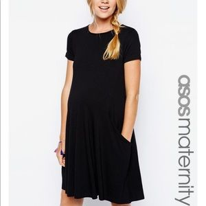 ASOS Maternity Dresses & Skirts - ASOS Maternity Black Swing Tunic Dress w/ Pockets