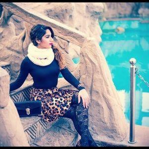 Bnwt Zara Cheetah Print Flared Mini Skirt Size Sm