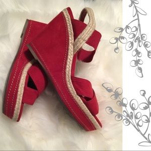 Studio Paolo Shoes - Red wedge sandals