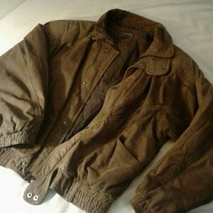Vintage genuine leather bomber
