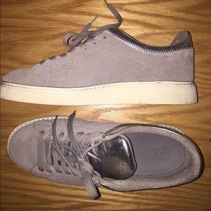 Zara Grey Suede Leather Sneakers