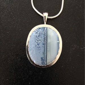 Handmade by Me Jewelry - 18.5 Ct Blue Opal Pendant Handmade