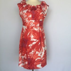 Maggy London Dresses & Skirts - Maggy London bright red and white floral dress