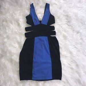 Bebe Au Lait Dresses & Skirts - Black and blue cocktail dress