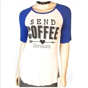 ❤Send Coffee Seriously Baseball Tee