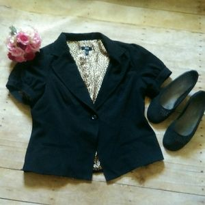 AGB Jackets & Blazers - NWT AGB Black Short Sleeved Blazer Size 14