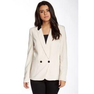 Bardot Jackets & Blazers - {bardot} cream colored Daria contrast blazer