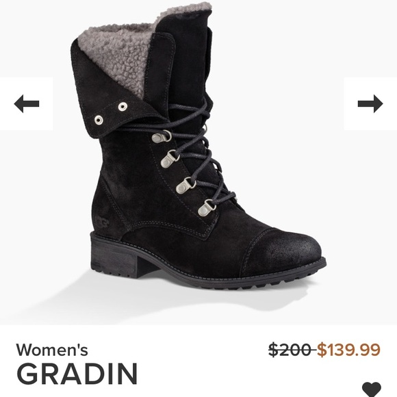 074d5bf7823 NEW Ugg Gradin boot in black, size 7 NWT