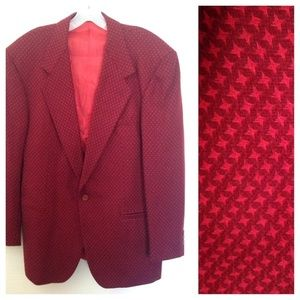 Versace Other - Versace v2 WOOL BLAZER JACKET sport coat vtg