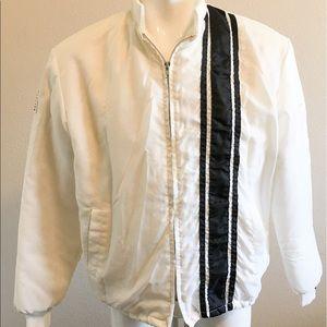 Vintage Other - Men's Windbreaker Blue Stripe America Patch Jacket
