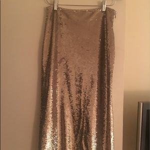 IRO bump midi skirt in sequins worn once