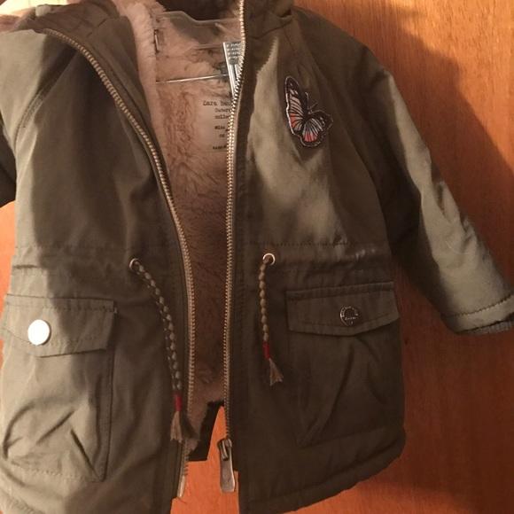 dbcb5bf62d0f Zara Baby Girl 9-12 Month winter coat. M 58f56a28eaf030c073139c5e