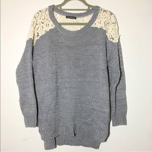 ASOS Sweaters - QED London crochet metallic tunic sweater M