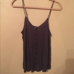 Free People Beach button up tank
