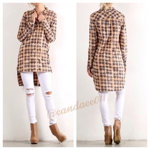 Long Sleeved Button Down Tunic