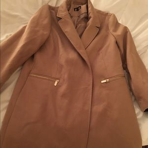 TopShop U.K. Size 16 Camel Coat
