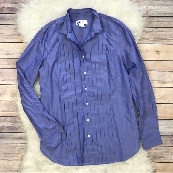 J. Crew Tops - Thomas Mason for J. Crew Pleated Tuxedo Shirt 9ec6a6831