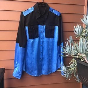 L.A.M.B. Tops - L.A.M.B. Gwen Stefani silk button up size 10