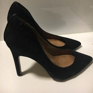 SIZE 6.5 black pointed heel
