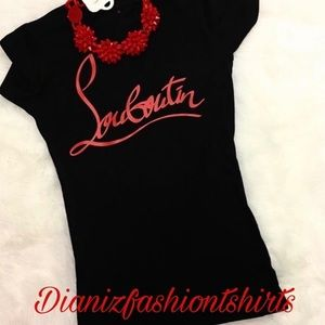 Christian Louboutin Tops - CL personalized shirt!