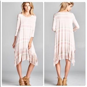 Posh Mishmosh Dresses & Skirts - Striped Fringe Dress