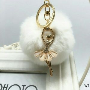 Accessories - 🌷Sale🌷Ballerina Pom Pom Keychain