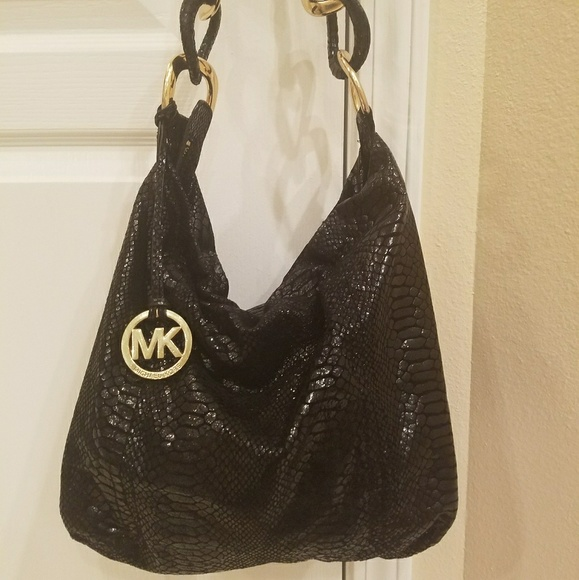 1f58d2448a981 Michael Kors Black python shoulder bag. M_58f572914127d098df13a6a3