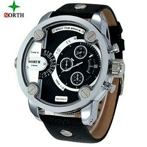 luxury brand north Watches Men Sports leather