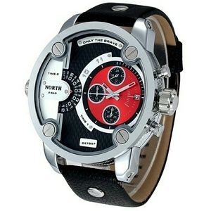 2017 luxury brand north Watches Men Sports leather