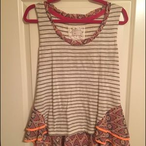 Anthropologie fit and flare top