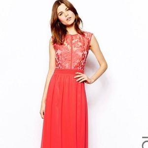 Little Mistress Dresses & Skirts - Asos little mistress cherry red lace maxi dress