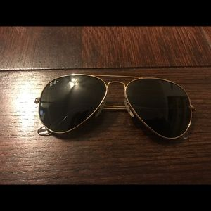 RAY BAN Gold Aviators