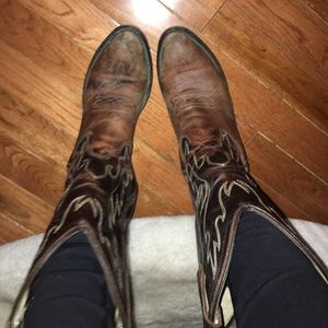 Georgia Boot Shoes - Cowboy BootS. Real Leather.