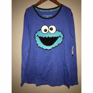 Tops - NEW with Tags COOKIE MONSTER Shirt Sz Small