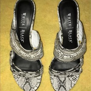 "White House Black Market Shoes - 🌺SALE🌺WHBM ""Susie"" Faux snake skin Strappy Heels"