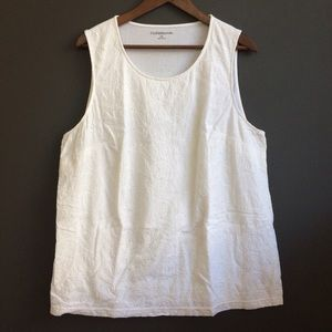 croft & barrow Tops - XL Croat & Barrow white sleeveless top