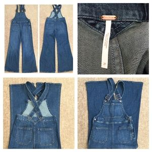 ef18ce1d389 Free People Jeans - 🆕Free People Teague Retro Denim Overalls. NWOT.