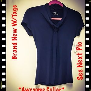 Grace Tops - BNWTS*Awesome Looking Top W/ Great Collar Style