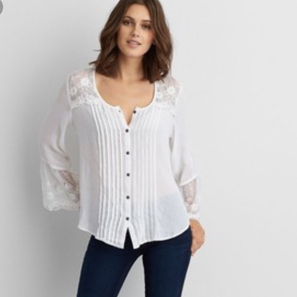162c1ac4 American Eagle Outfitters Tops | Ae Flowy Button Down Shirt | Poshmark