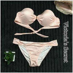 Victoria's Secret Other - Victoria's Secret Striped Strapless Bikini