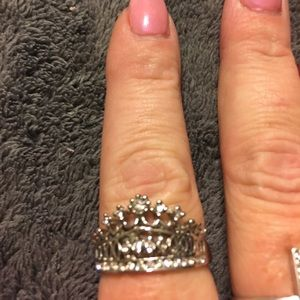 Jewelry - Silver plated crown ring