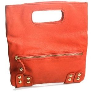 Linea Pelle- Dylan Folding Envelope Clutch, Orange