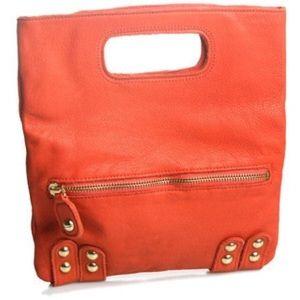 Linea Pelle Handbags - Linea Pelle- Dylan Folding Envelope Clutch, Orange