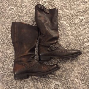 Frye Shoes - Frye Tall Leather Engineer Boots