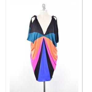 Mara Hoffman Dresses & Skirts - Mara Hoffman draped silk jersey vibrant dress