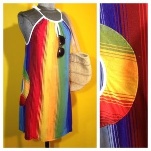 Vintage '70s Beach Cover up with pockets, Size M