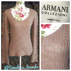 Armani Collezioni Sweaters - Women's longsleeved V-neck Armanni sweater