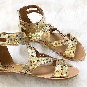 Shoes - Gold Goddess Sandal