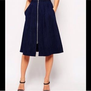 Whistles Dresses & Skirts - WHISTLES Midi Denim Skirt