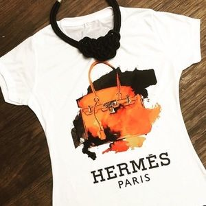 Hermes Tops - Hermes personalized shirt❤